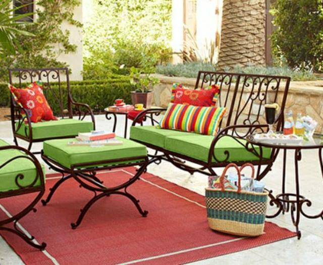 Décoration, maison, et, jardin, en, fer, forgé, meubles, mobilier ...